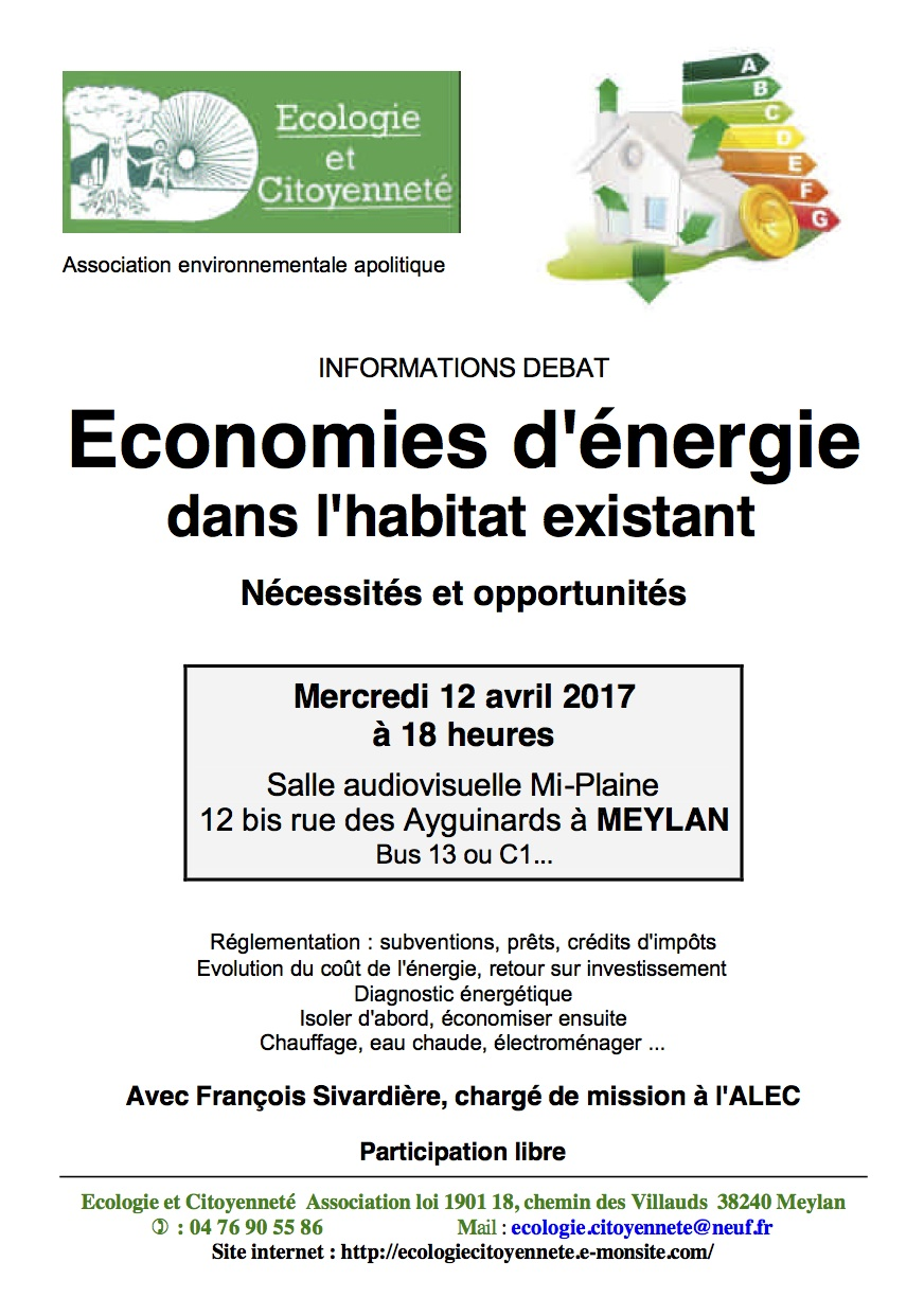 Affiche re union publique economies d e nergie c